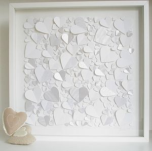 Personalised Captured Hearts Framed Picture - baby's room