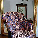 Gold damask chair