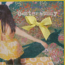 easter bunny girl greetings card