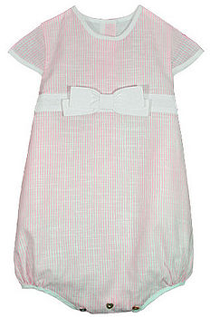 French Design Linen Romper with Bow