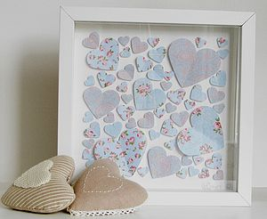 Floral Hearts Framed Picture