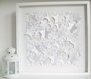 Personalised Fallen Stars Framed Picture - baby's room