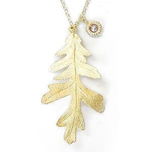 Hyde Park Oak Leaf Charm Pendant - charm jewellery