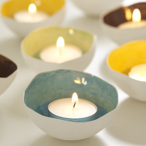 Ceramic Tea Light Shell - candles & candlesticks