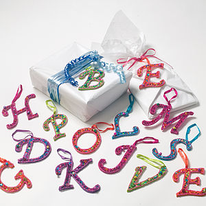 Sparkle Letter Gift Tag Or Decoration - personalised