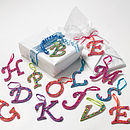 Sparkle Letter Gift Tag Or Decoration