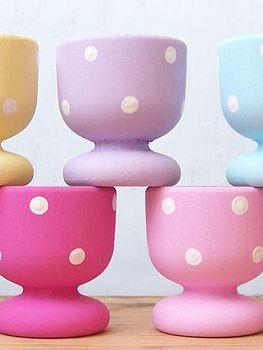 Handpainted Dotty Eggcups