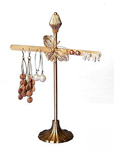 Brass Flower Or Butterfly Earring Stand