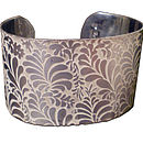 Large Volutes Sterling Silver Cuff
