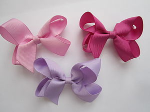 The 'Essentials' hair bows - 3 in set