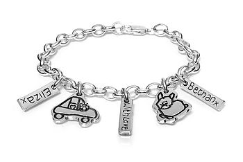 Personalised Charm Bracelet - Drawn By Your Child!