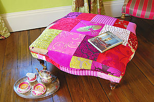 Grande Patchwork Footstool - furniture delivered for christmas