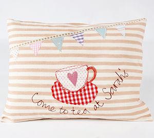 """""""Tea at Sarah's """" Cushion"""