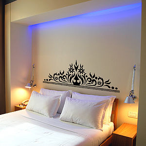 Baroque Headboard Wall Sticker - wall stickers