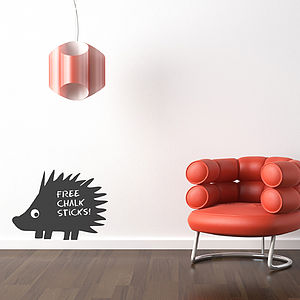 Hedgehog Chalkboard Wall Sticker - decorative accessories
