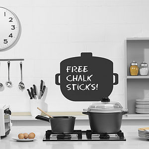 Cooking Pot Chalkboard Wall Sticker - wall stickers
