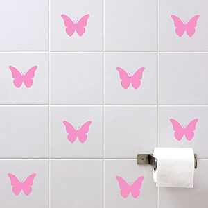 Butterflies Wall Tile Sticker Set