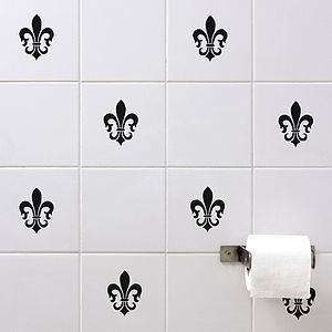 Fleur De Lis Wall Tile Sticker Set - home accessories