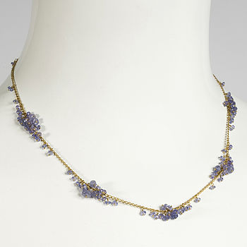 Scattered Cluster Necklace, Tanzanite