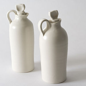 Handmade Porcelain Oil Pourer - jugs & bottles