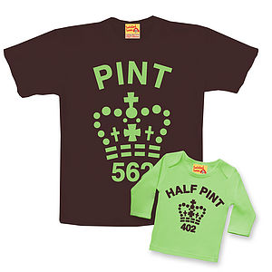 Pint and Half Pint Twinset: Mint Choc Chip Version  - t-shirts & tops