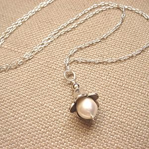 English Garden Bluebell And Pearl Necklace - women's jewellery