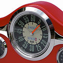 Red dashboard clock