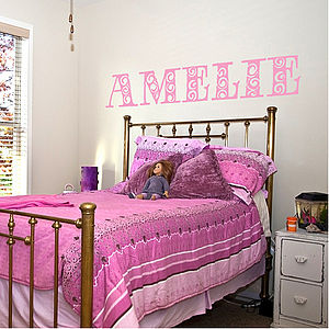 Personalised Girl's Name Wall Sticker - decorative accessories