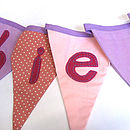 Personalised bunting pinks and lilacs 72 dpi