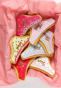 Valentines Set Of Seven Knicker Biscuits - cakes & treats