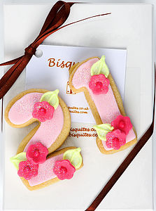 Special Age Birthday Biscuit - biscuits
