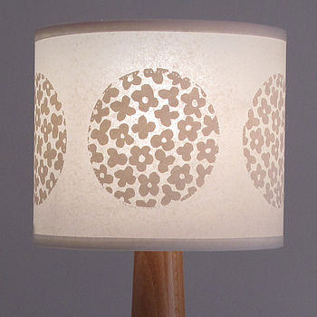 Round Flower Drum Lampshade