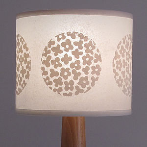 Round Flower Drum Lampshade - lamp bases & shades