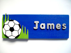 Personalised 3D Football Door Plaque - baby's room
