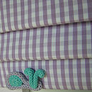 Lilac Gingham Roman Blind