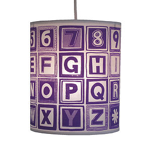 Alphabet Retro Block Lampshade - lamp bases & shades