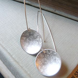 Domed Round Etch Earrings