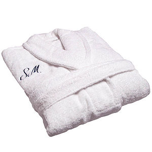 Personalised Spa Bath Robe - home