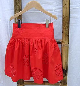 Girl's Embroidered Skirt - clothing