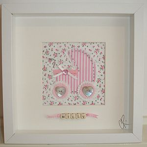 Personalised Baby Girl Pram Picture