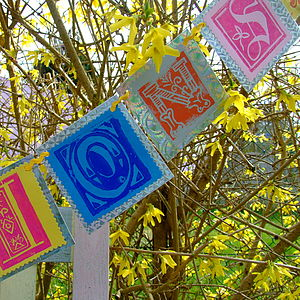 Personalised Paper Bunting - decorative letters