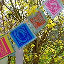 Personalised Paper Bunting- 'Congratulations' custom Order (detail)