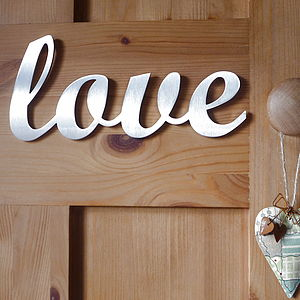 Stainless Steel Love Sign