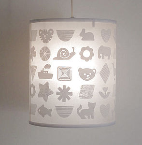 Shapes and Things Pendant Lampshade - children's living