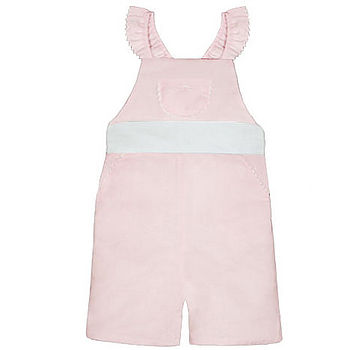 French Design Linen Dungarees with Sash Bow
