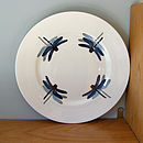 Blue dragonfly sandwich plate