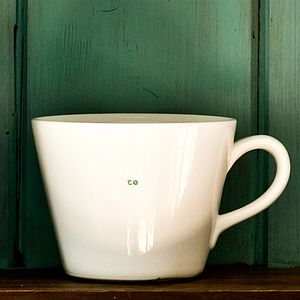 'Te' Tea Mug - crockery & chinaware