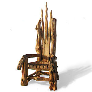 Elaborate Driftwood Throne - furniture