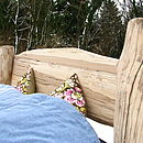 Headboard of Driftwood Bed