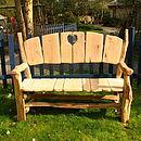 Heart Garden Bench
